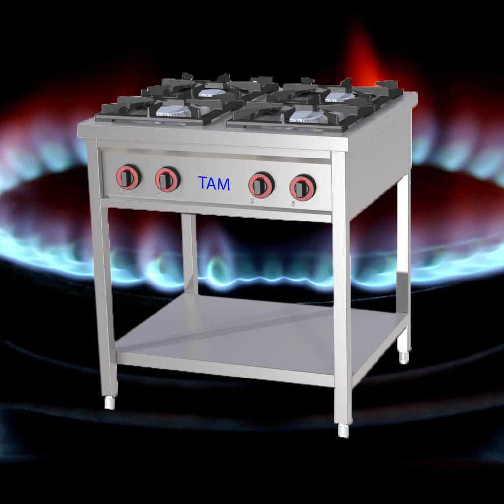 4 Flammen Gasherd TAM-G4-EASY