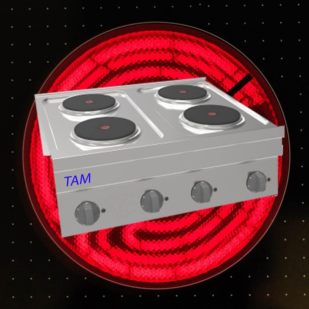 4 Platten Elektroherd TAM-SE70