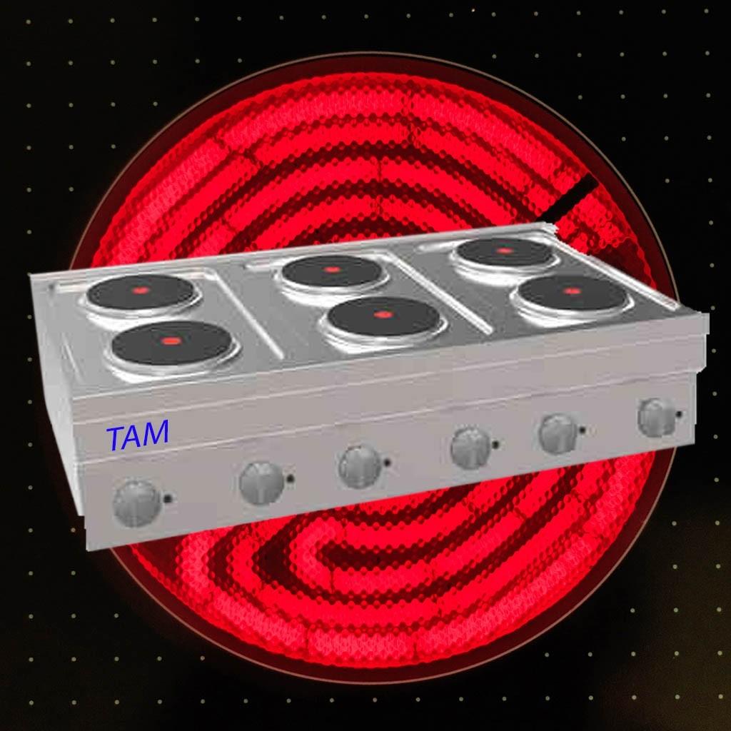 6 Platten Elektroherd TAM-SE105