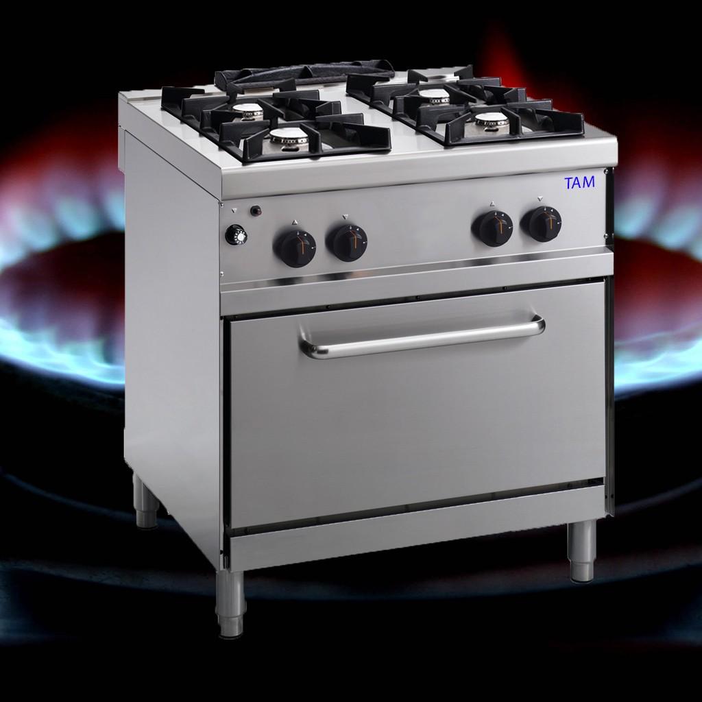 4 Flammen Gasherd TAM-G4E2-LUX