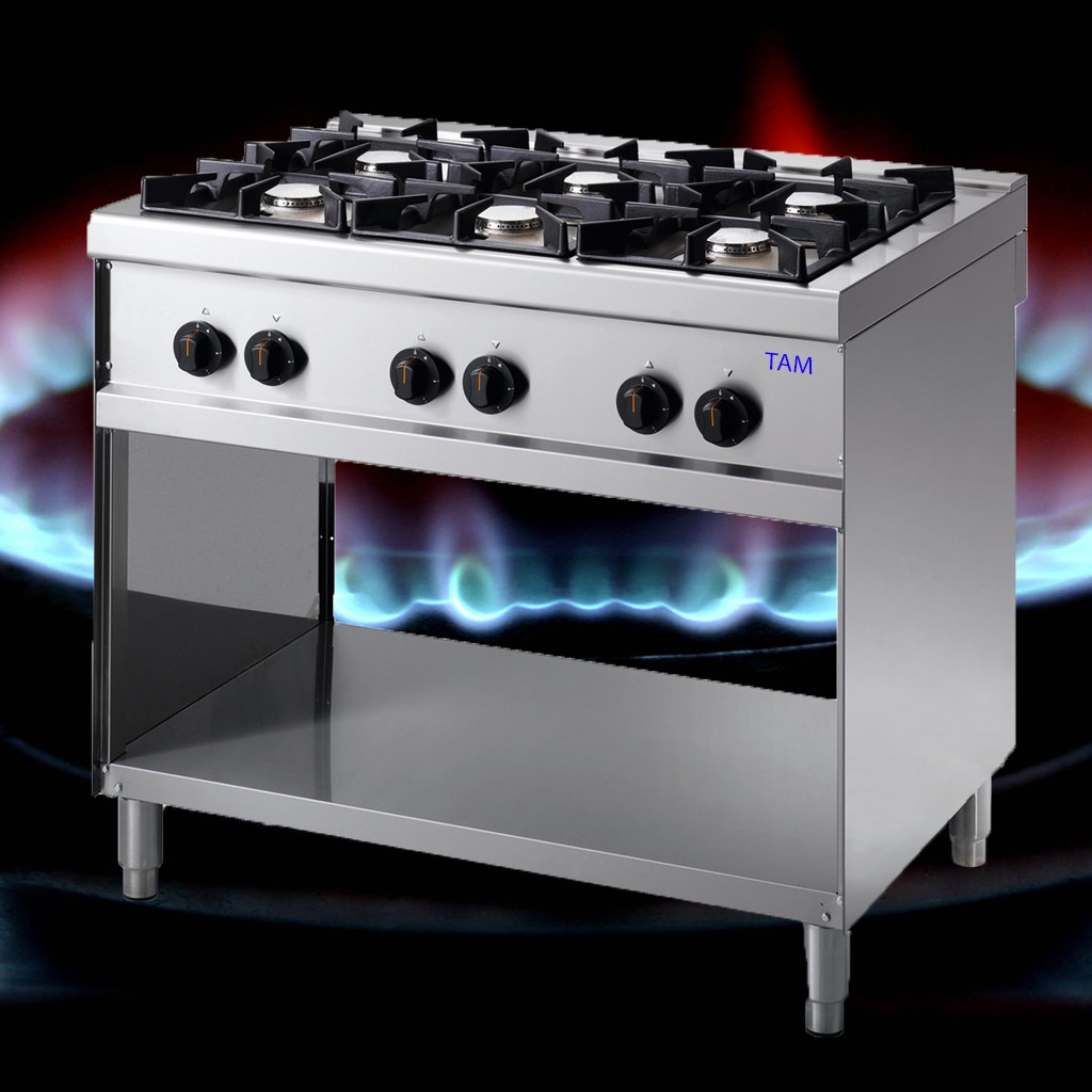 6 Flammen Gasherd TAM-G6-ECO
