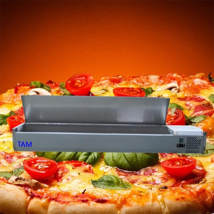 Pizzakühlaufsatz mit Edelstahldeckel 1500x335x225 TAM-PKAD1514