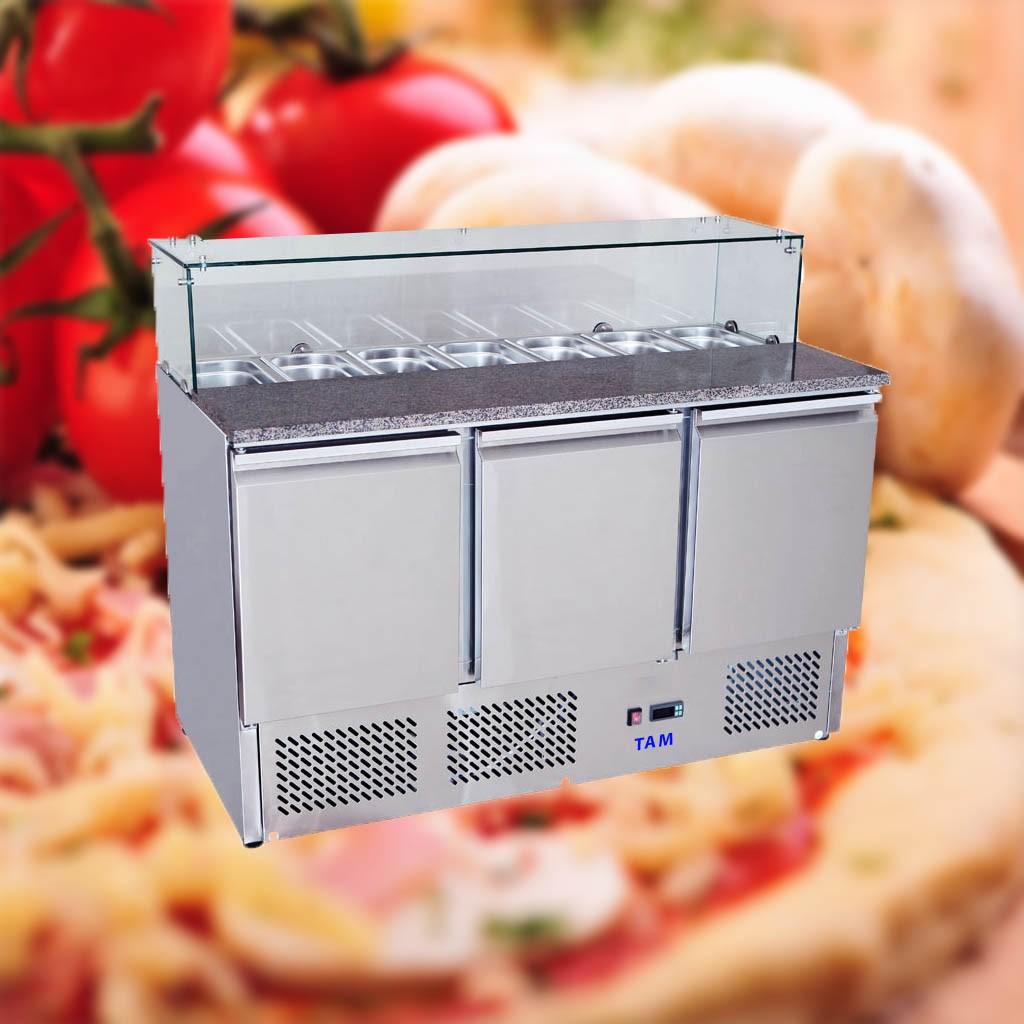 Pizzatisch TAM-PT1365GLAS-LUX