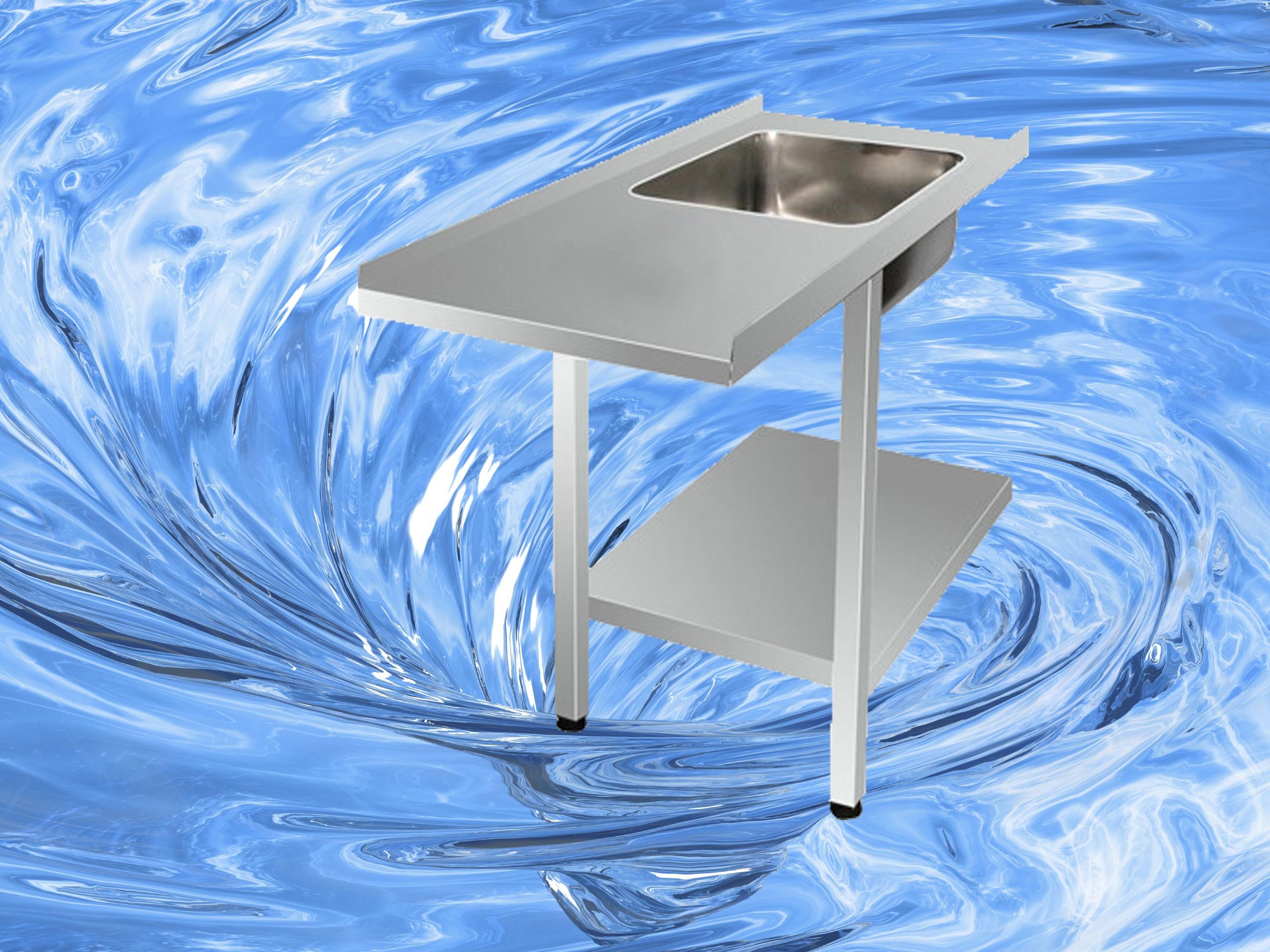 Zulauftisch mit Becken TAM-ZLT1200TOP-links
