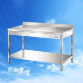 Arbeitstisch mit Boden und Aufkantung 2000x700x850 TAM-ATB207A