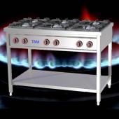 6 Flammen Gasherd TAM-G6-EASY