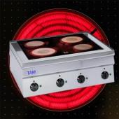 4 Platten Elektroherd mit Cerankochfeld TAM-SEC70