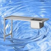 Zulauftisch mit Becken TAM-ZLT1600