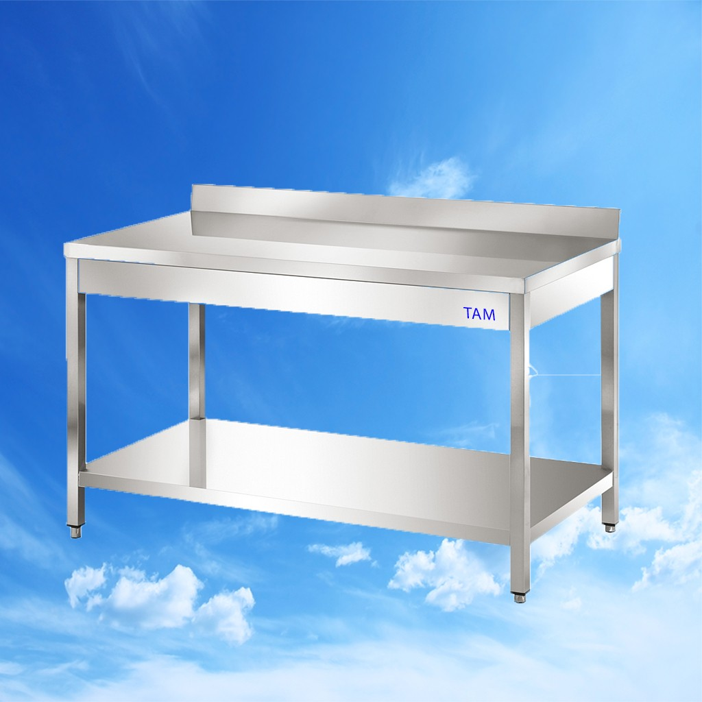 Arbeitstisch mit Boden und Aufkantung 1400x600x850 TAM-ATB146A