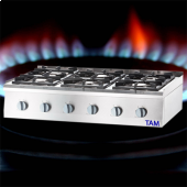 Premium 6 Flammen Gasherd als Tischgerät TAM-GT6