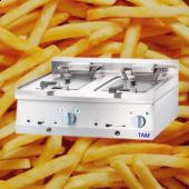 Premium Elektro Doppel Friteuse  TAM-PEFTD