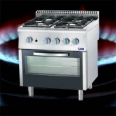 Premium 4 Flammen Gasherd mit Elektro-Umluft-Backofen TAM-G4BU