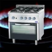 Premium 4 Flammen Gasherd mit statischem Elektro-Backofen TAM-G4BS