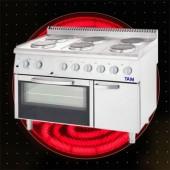 Premium 6 Flammen Elektroherd mit Umluft Backofen TAM-E6BU