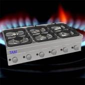 6 Flammen Gasherd TAM-SG1050