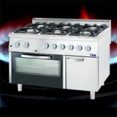 Premium 6 Flammen Gasherd mit Gas-Backofen TAM-G6BG